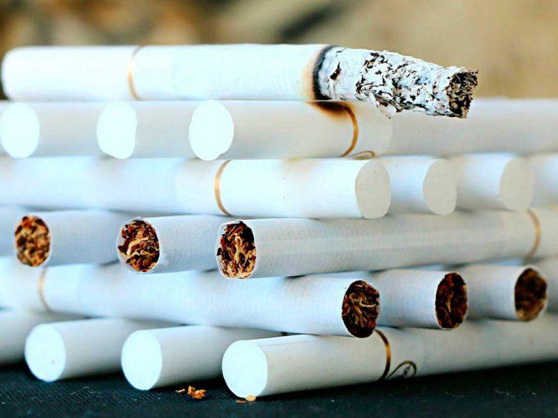 Pallet formado por cigarros