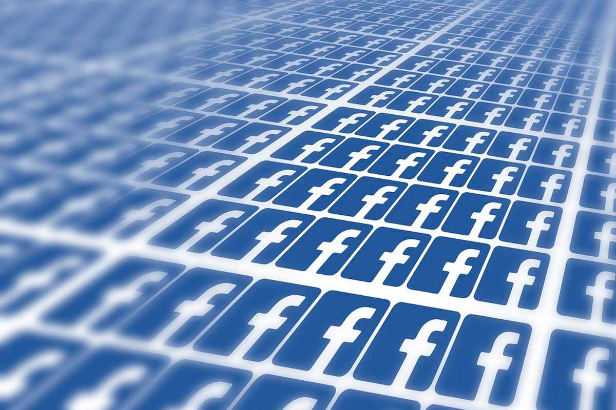 Arte com várias logomarcas do facebook